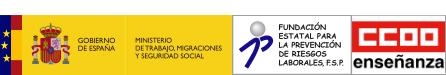 Gobierno de España - Ministerio de Trabajo, Migraciones y Seguridad Social | Fundación Estatal para la Prevención de Riesgos Laborales  | Federación de Enseñanza de Comisiones Obreras